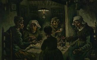 De aardappeleters, Vincent van Gogh, Nuenen, 1885, Van Gogh Museum Amsterdam